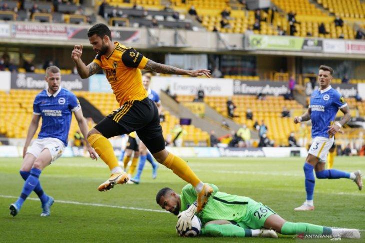 Liga Inggris: Gol menit terakhir antar Wolverhampton kalahkan 10 pemain  Brighton