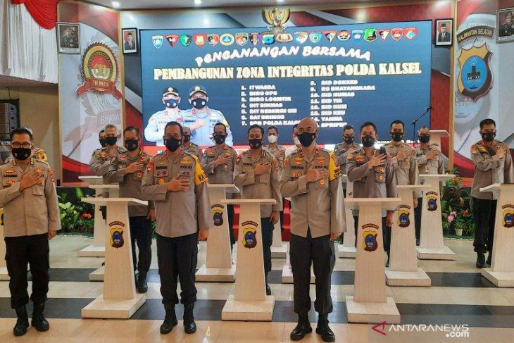 Polda Kalsel canangkan zona integritas 15 satker