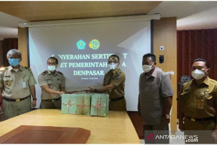 BPN serahkan 400 sertifikat tanah kepada Pemkot Denpasar