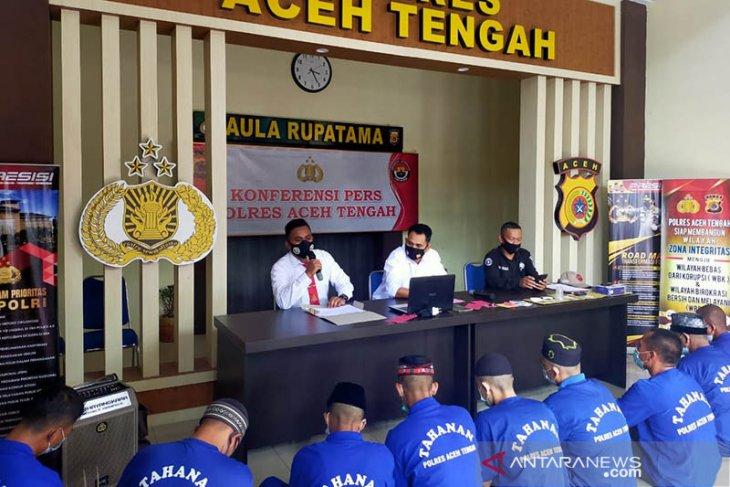 Polisi ringkus pengedar dan pemakai narkoba di Aceh Tengah