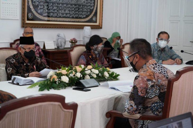 Wapres Ma'ruf pimpin rapat koordinasi bahas KIH dan sertifikat halal