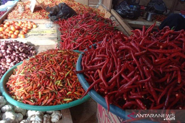 Harga cabai merah biasa  di pasar tradisional Ambon naik