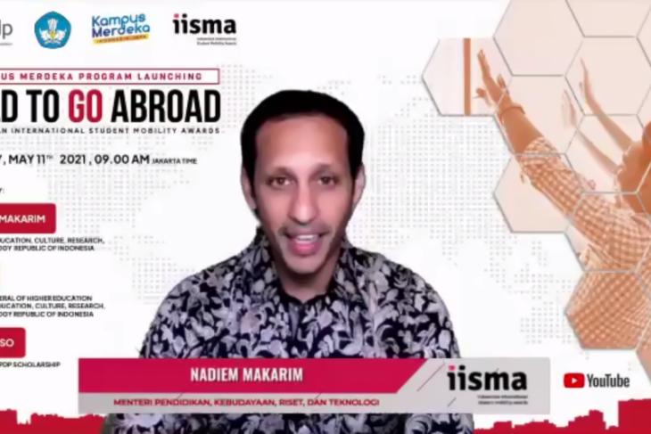 Menteri Nadiem luncurkan beasiswa mobilitas mahasiswa internasional