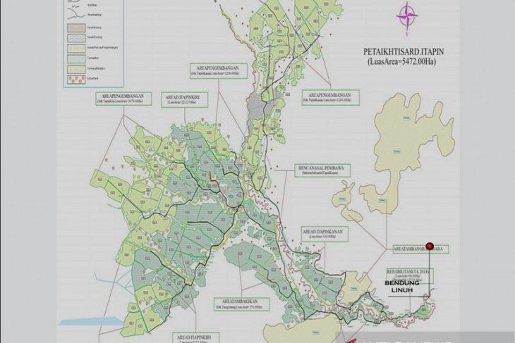 Proses pembangunan irigasi di Tapin Kalsel capai angka 9 persen
