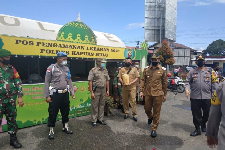 Bupati Kapuas Hulu cek kesiapan pengamanan Idul Fitri