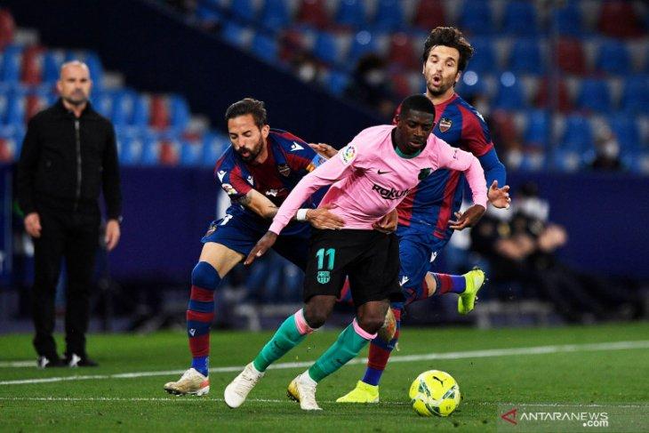 Diimbangi Levante, Barcelona buang kesempatan ke puncak