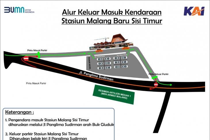 KAI Daop 8 Surabaya uji coba pengoperasian Stasiun Malang Baru sisi timur