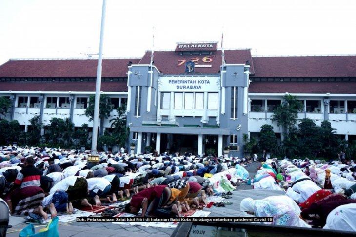 Shalat Id di Surabaya masuk zona oranye dibatasi kapasitasnya 15 persen