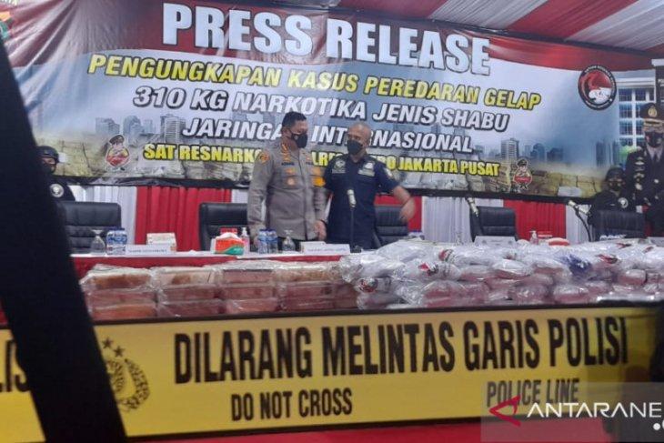 Polisi Jakpus gagalkan peredaran sabu internasional seberat 310 kg