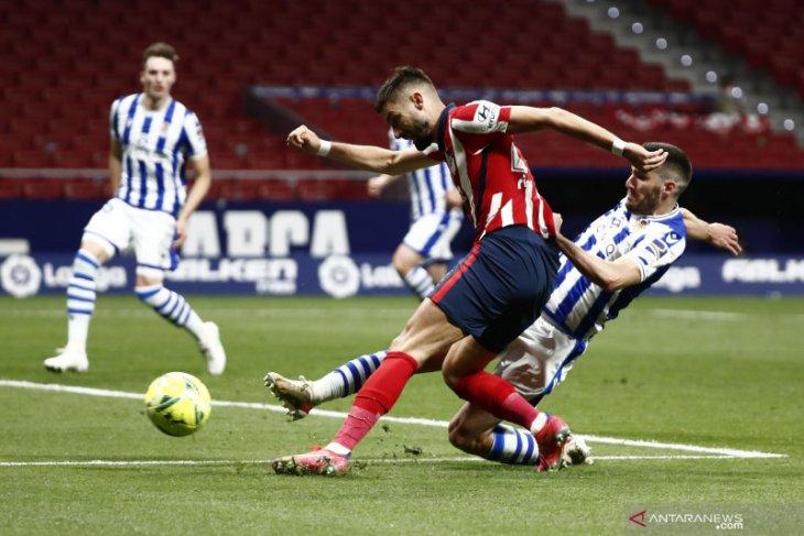 Atletico Madrid makin dekat juarai La Liga usai bekuk Sociedad 2-1