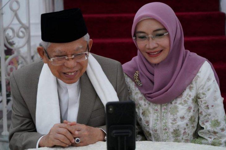 Presiden bersilaturahmi dengan Wapres dan istri secara daring