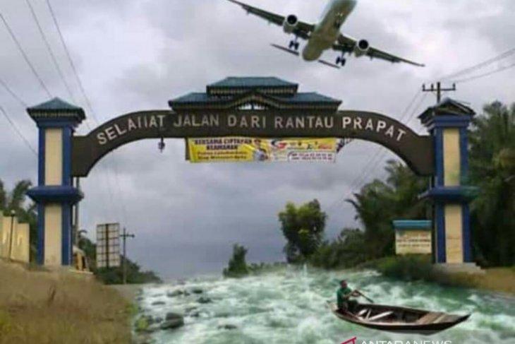 Penyekatan di Jalinsum Kabupaten Labuhanbatu, warga balas edit foto kocak