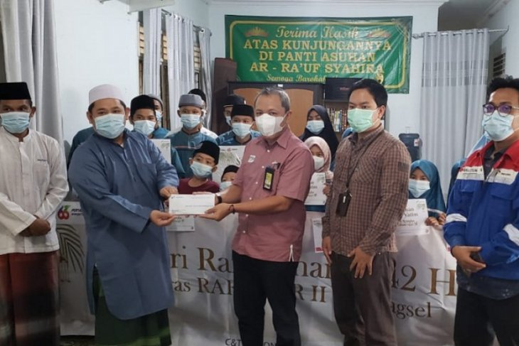 Pertamina santuni 653 anak yatim di  Sumbagsel
