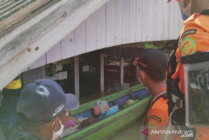 Basarnas evakuasi 5.308 korban banjir Satui, Tanah Bumbu