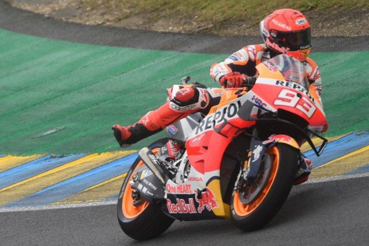 MotoGP: Marquez kuasai trek basah Le Mans di sesi latihan ketiga