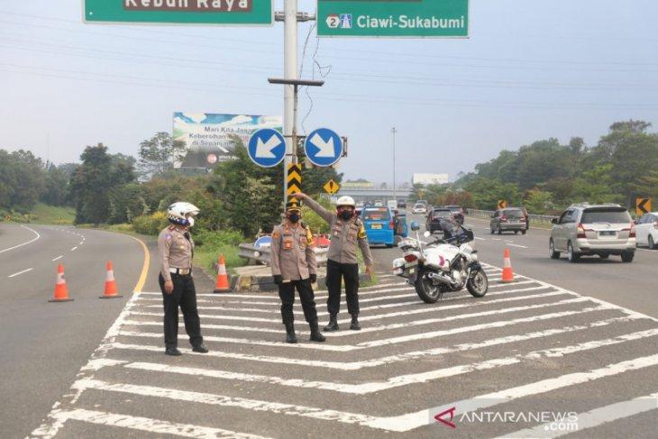Polresta Bogor tutup sementara Gerbang Tol Baranangsiang, ini sebabnya