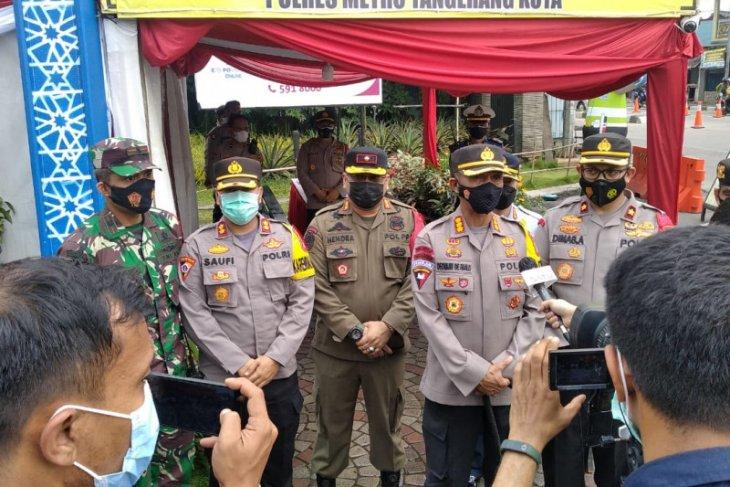 Wakapolda Metro pantau tes antigen di pos penyekatan Kota Tangerang