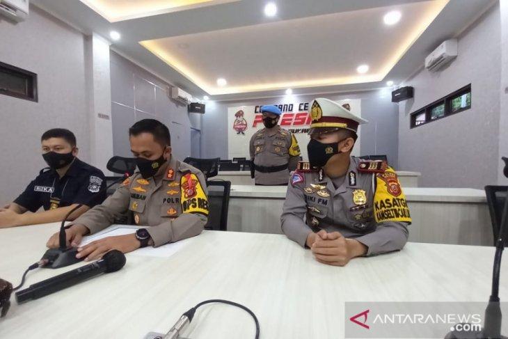 Operasi Ketupat Lodaya,  Polres Sukabumi amankan puluhan taksi gelap