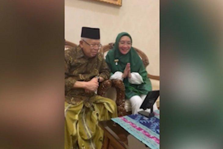 Menko PMK Silaturrahmi virtual dengan Wakil Presiden