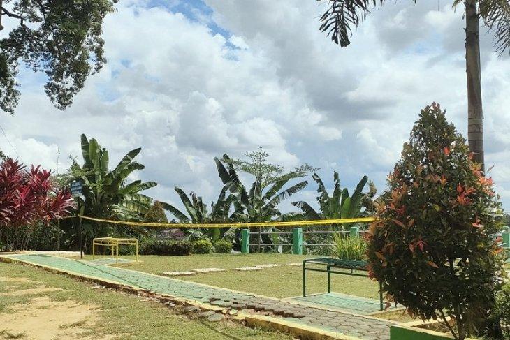Semua akses masuk obyek wisata Kota Jambi dipasang garis polisi