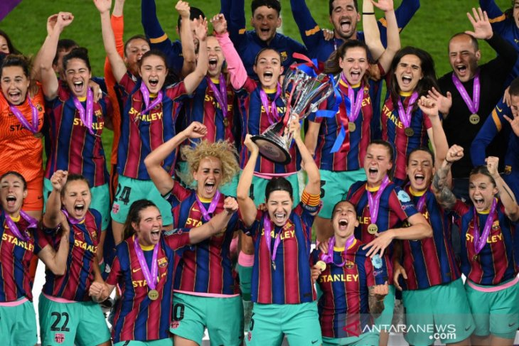 Hancurkan Chelsea 4-0, Barcelona juara  Liga Champions Wanita 2020-21