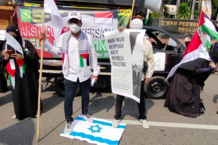 Rally held in Surabaya in support of Palestinian cause