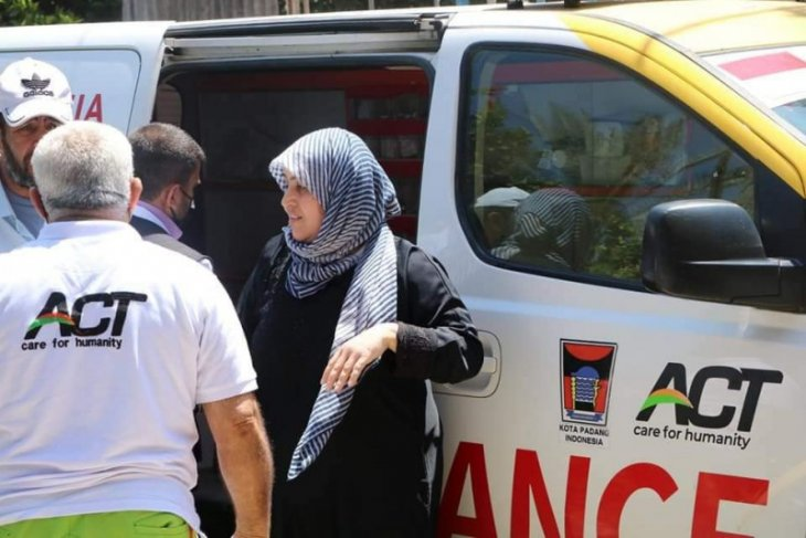 Aksi kemanusiaan, ambulans bantuan warga Padang turut evakuasi korban di Palestina