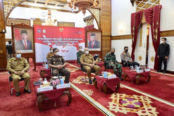 Pasca Idul Fitri,Forkopimda Aceh Ikuti pengarahan Presiden