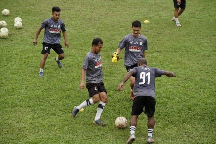 Latihan perdana PSMS Medan hanya diikuti delapan pemain