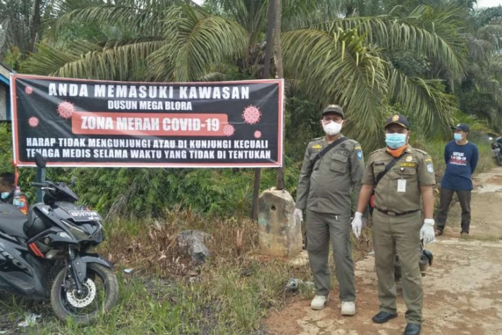 Satu dusun di Desa Mega Timur sempat diisolasi karena COVID-19