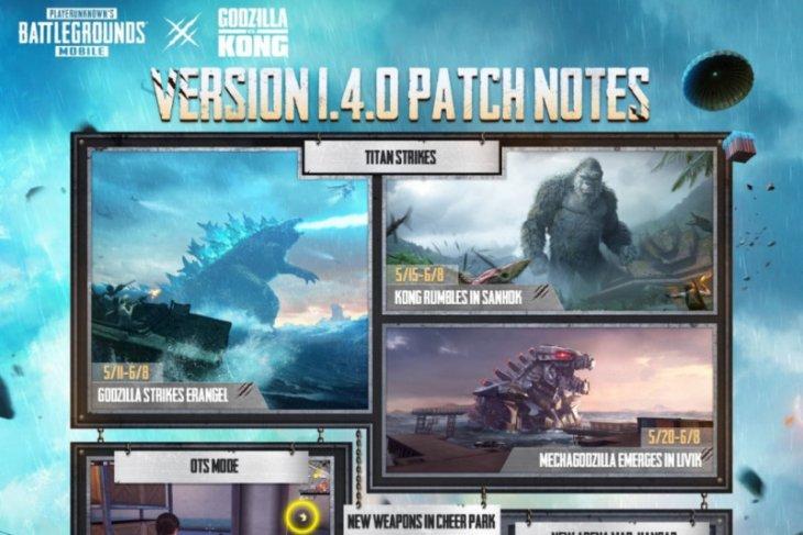 Godzilla vs Kong mulai manjakan pengemar PUBG Mobile