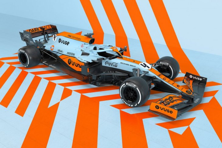 McLaren  dibalut livery ikonik Gulf