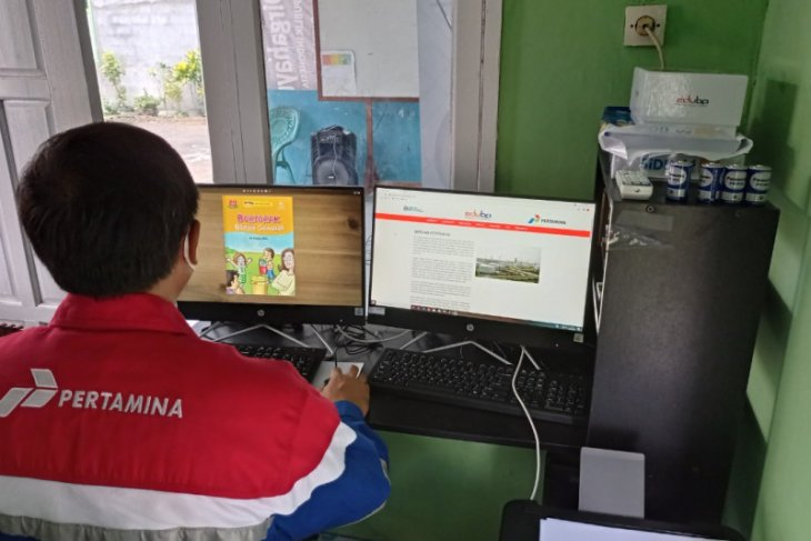 Pertamina DPPU Supadio berikan bantuan fasilitas perpustakaan digital