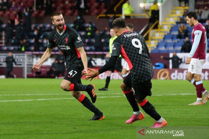 Liverpool terobos empat besar klasemen seusai pukul Burnley 3-0
