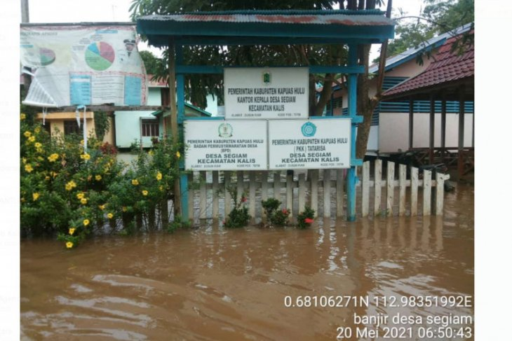 11 desa di dua kecamatan wilayah Kapuas Hulu dilanda banjir