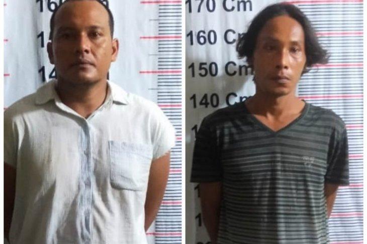 Polsek Pangkalan Brandan amankan dua warga asyik nikmati sabu