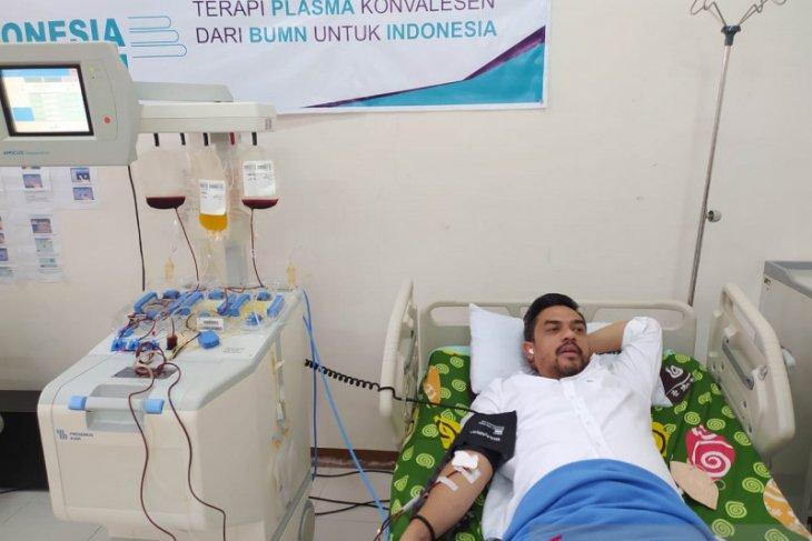 Maman Abdurrahman donor darah plasma konvalesen untuk pasien COVID-19
