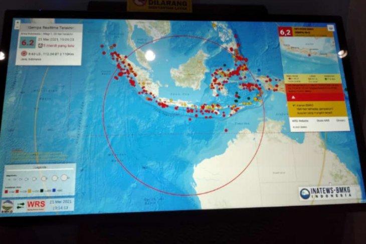Gempa 6,2 M guncang Kabupaten Blitar
