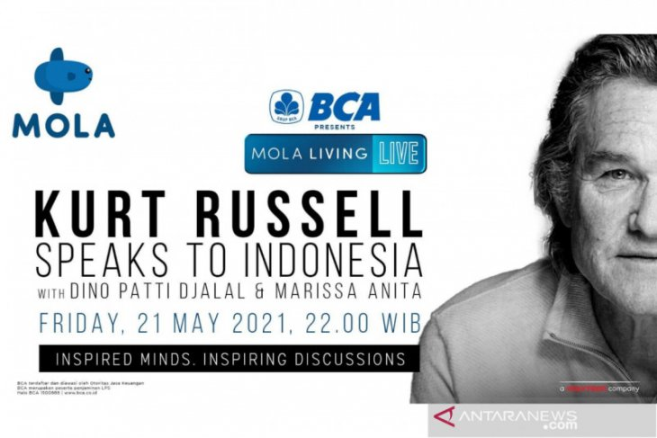 Malam ini Kurt Russel berbagi cerita kepada pencinta film di Indonesia
