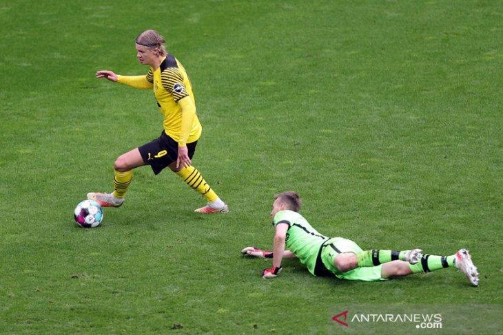 Dua gol Haaland antar Dortmund tundukkan Leverkusen di pengujung musim