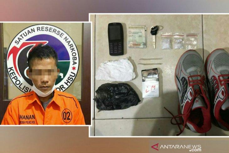 Polres HSU tangkap pengedar sabu dengan barang bukti tujuh gram lebih sabu-sabu