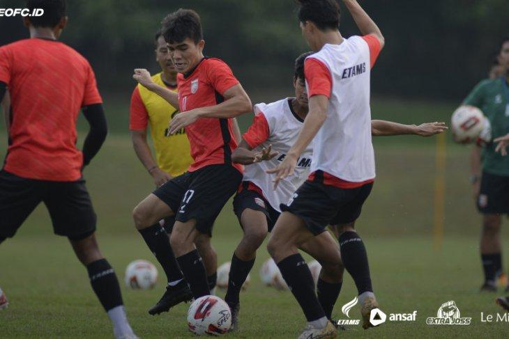 Borneo FC mulai TC di Yogyakarta dengan laksanakan  latihan ringan