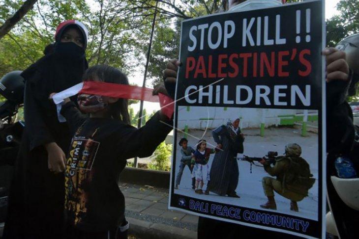 Aksi solidaritas Palestina di Bali