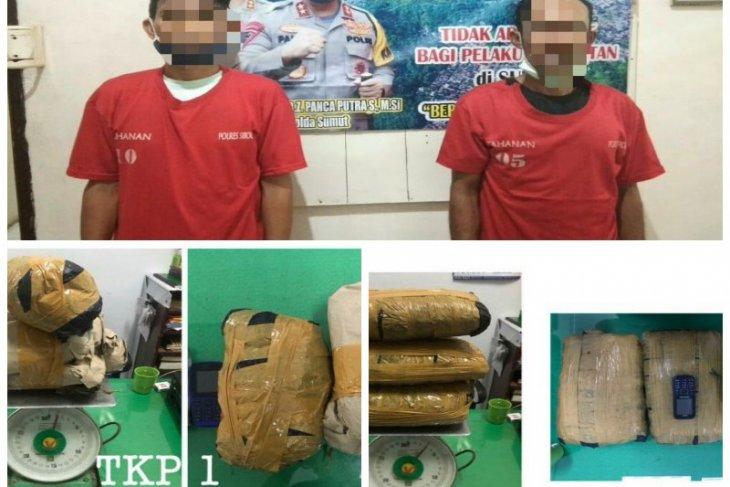 Bawa ganja 25 Kg dari Madina, dua pengedar ini diamankan Polres Sibolga