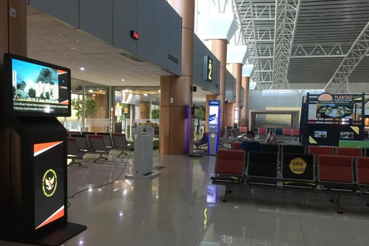 ANTARA pasang TV Robot di Bandara Supadio Pontianak perluas jaringan distribusi
