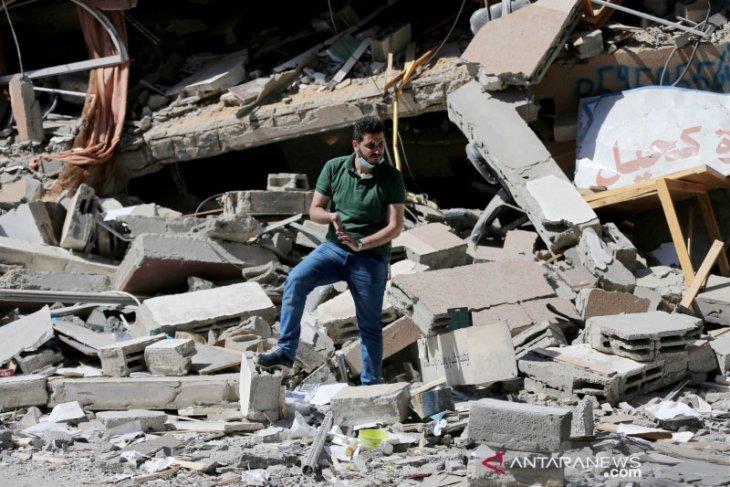 Israel gempur dua fasilitas militer Palestina di Gaza
