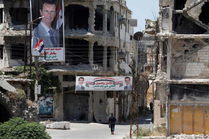 Suriah cegat serangan udara Israel  di Homs