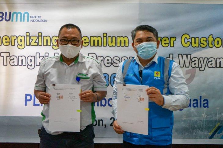 PT. Pertamina fuel terminal Wayame di Ambon  jadi pelanggan premium PLN