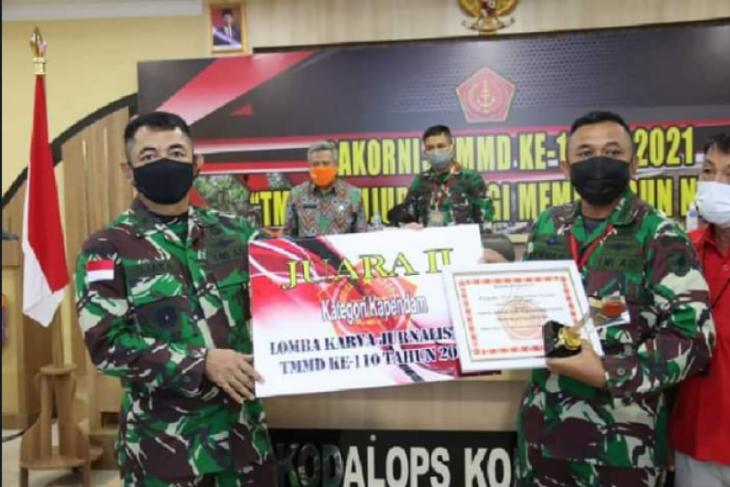 Penerangan Kodam XII/Tanjungpura raih Juara II Lomba Karya Jurnalis TMMD ke-110