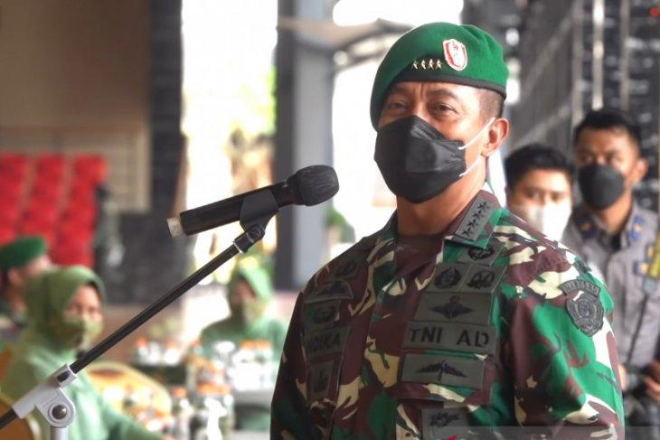 Kasad Andika pimpin kenaikan pangkat 33 perwira tinggi TNI AD